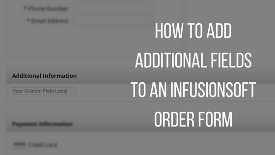 Infusionsoft Order Form