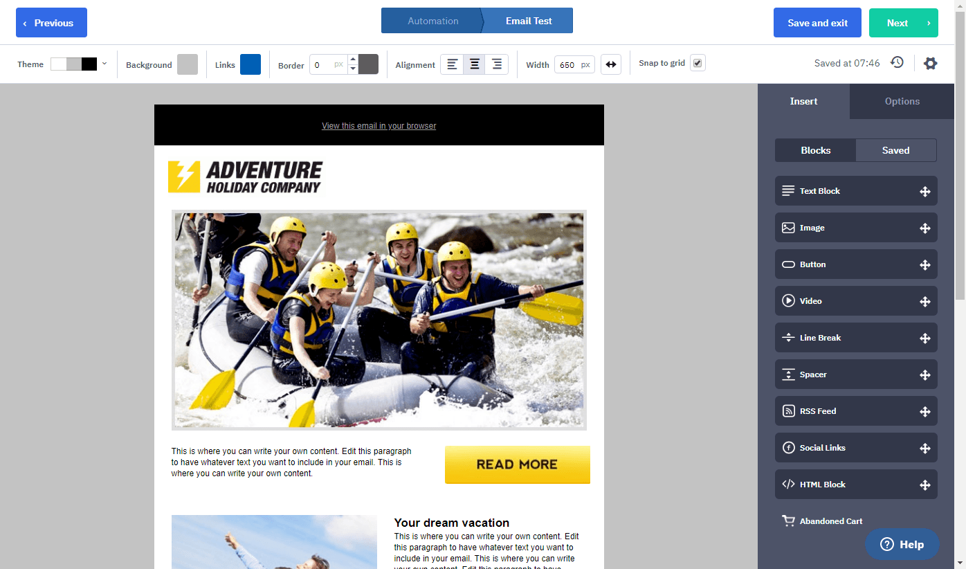 activecampaign email design